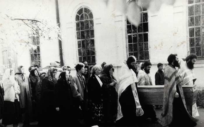 1993 год. Перенесение мощей прп. Ионы со Зверинецкого кладбища в Ионинский монастырь