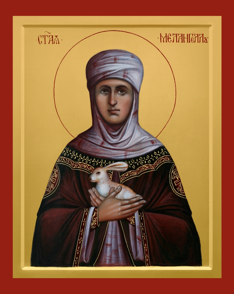Икона прп. Мелангеллы, написанная для Ольшанского женского монастыря